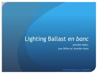 Lighting Ballast  en banc