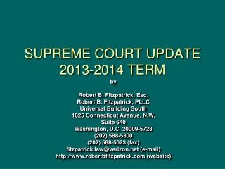 SUPREME COURT UPDATE 2013-2014 TERM