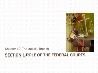 Section 1- Role of the Federal Courts