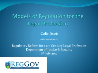 Models of Regulation for the Legal Profession