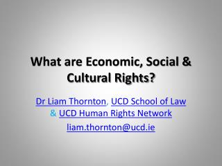 What are Economic, Social & Cultural Rights?