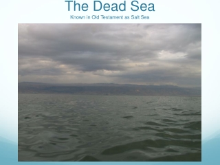 The Dead Sea Known in Old Testament as Salt Sea