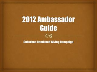 2012 Ambassador Guide