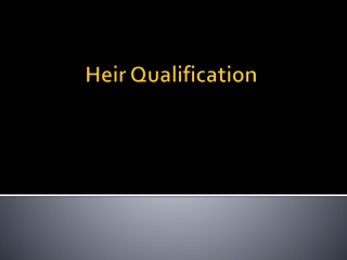 Heir Qualification