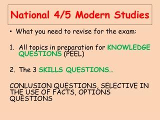 National 4/5 Modern Studies