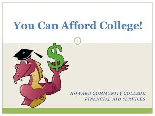 You Can Afford College!