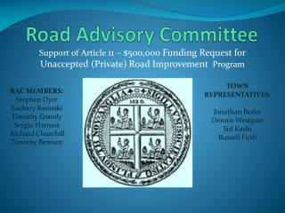 Road Advisory Committee