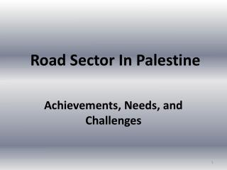 Road Sector In Palestine