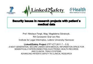 Security Issues in research projects with patient`s medical data