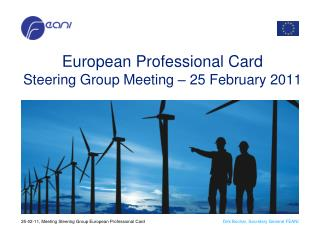 European  Professional  Card Steering Group Meeting – 25 February 2011