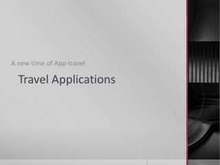 Travel  Applications