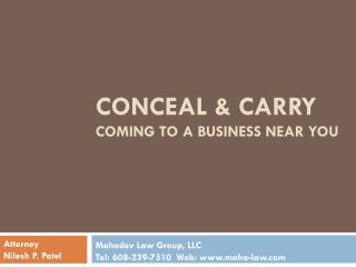 conceal & carry Coming To A Business Near You