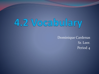 4.2 Vocabulary