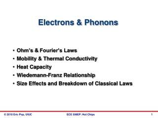 Electrons & Phonons