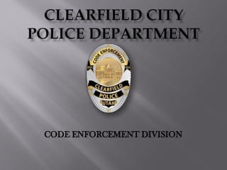 CLEARFIELD CITY Police Department