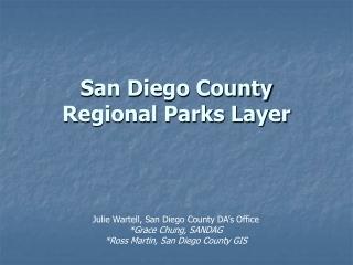 San Diego  County Regional Parks Layer