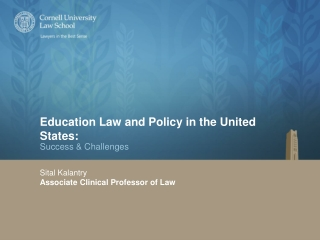 Education Law and Policy in the United States: