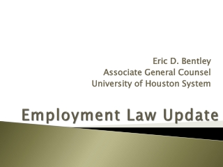 Employment Law Update