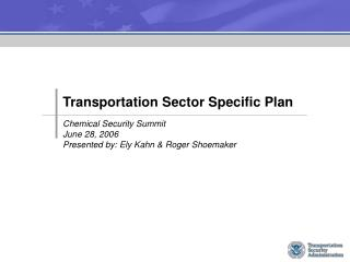 transportation sector specific plan