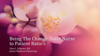 Being The Change: Safer Nurse to Patient Ratio's
