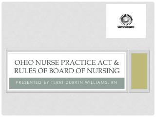 Ohio Nurse Practice Act & Rules of Board of Nursing