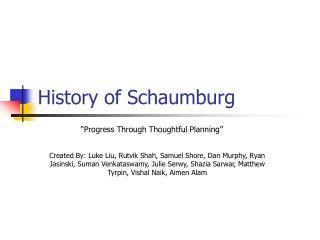 history of schaumburg