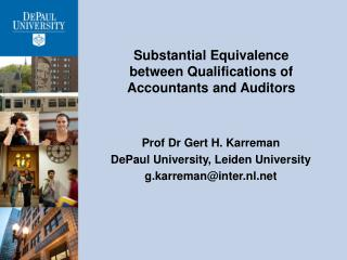 Substantial Equivalence between Qualifications of Accountants and  Auditors