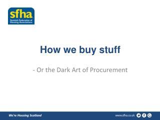 How we buy stuff