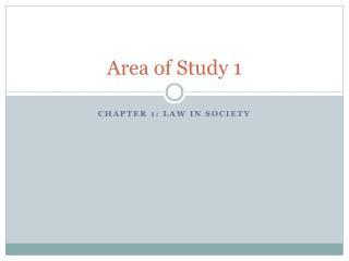 Area of Study 1