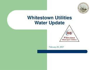 whitestown utilities  water update