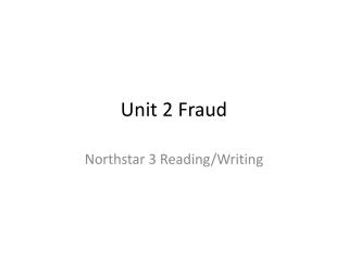 Unit 2 Fraud