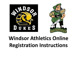 Windsor Athletics Online Registration Instructions