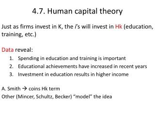 4.7.  Human capital theory