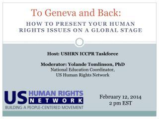 To Geneva and Back:
