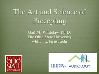 The Art and Science of Precepting