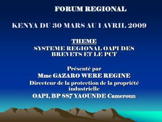 kenya du 30 mars au 1 avril 2009