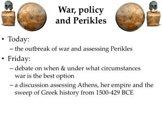 War, policy and  Perikles
