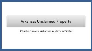Arkansas Unclaimed Property