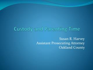 Custody and Parenting Time