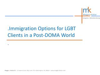 .Immigration Options for LGBT Clients in a Post-DOMA World