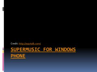 download songs on windows phone with supermusic