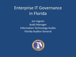 Enterprise IT Governance in Florida