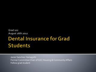 Dental Insurance for Grad Students