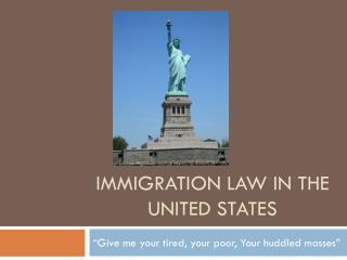 Immigration law in the united states