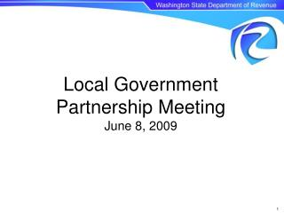 local government partnership meeting june 8, 2009