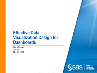 Effective Data Visualization Design for Dashboards