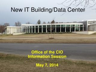 New IT Building/Data Center