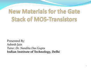 New Materials for the Gate Stack of MOS-Transistors