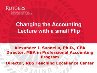 Changing the Accounting Lecture with a small Flip