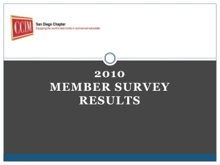 2010  Member Survey Results